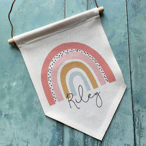 Personalised Name ... Rainbow Design Home Quote  Pennant