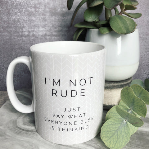 I'm not Rude Quote Geometric - Fun Mug