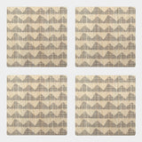 East of India Grey/Natural Geometric Coaster Set