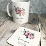Personalised Female Relative Love You Floral Style Mug - Mother's Day