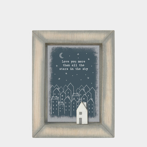 East of India Love you more.. Quote Wooden Box Frame