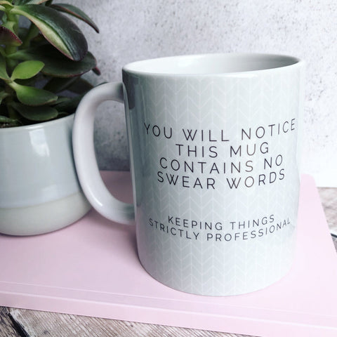 Geometric No swear words  - Fun Mug Sarcasm