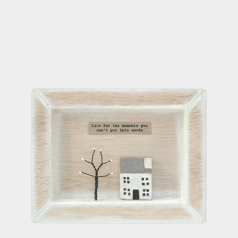 East of India Live for the moments.. Quote Wooden Box Frame