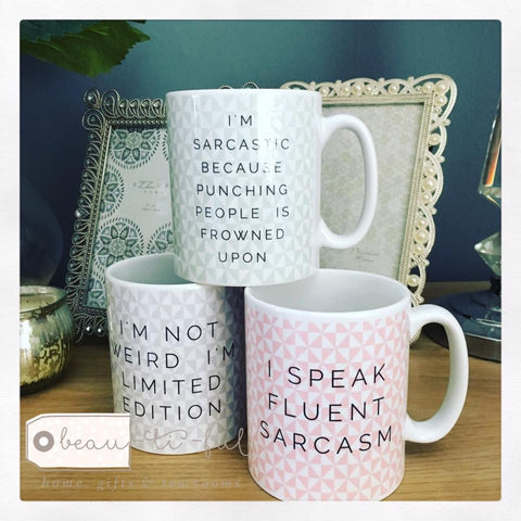 Geometric I'm Not Weird Mug