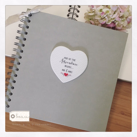 Mr & Mrs Heart Quote Memory Book