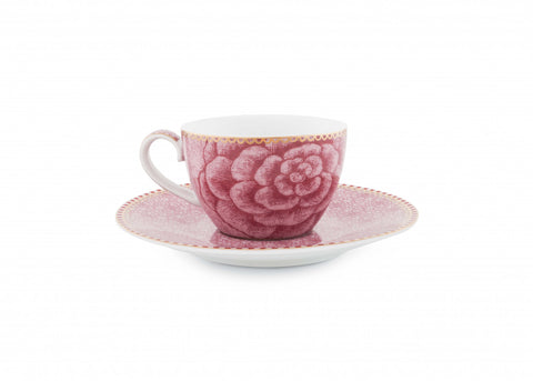 Pip Studio Spring To Life Pink Espresso Cup and Saucer
