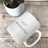 Geometric Not Interested Mug Coffee Mug Work Mug