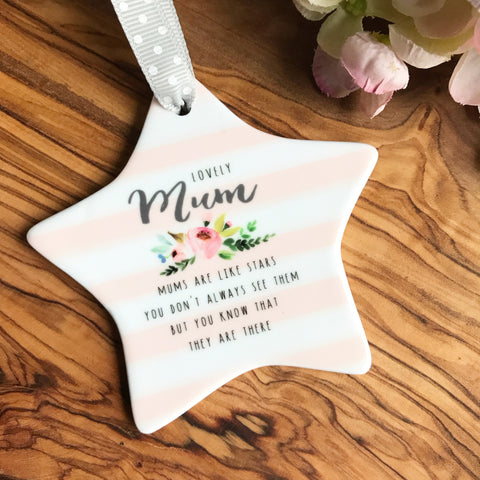 Lovely Mum Ceramic Star