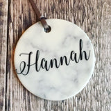 Personalised Name Christmas Marble Style Ceramic Decoration Christmas Gift Keepsake Tree Ornament Bauble Decoration