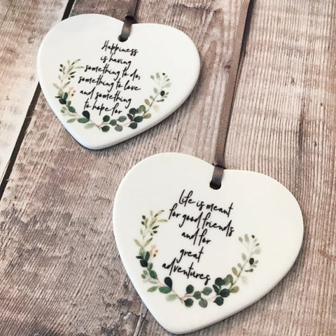 Happiness is Ceramic Heart - Keepsake