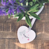 Milestone Age Butterfly Birthday Detail Ceramic Heart