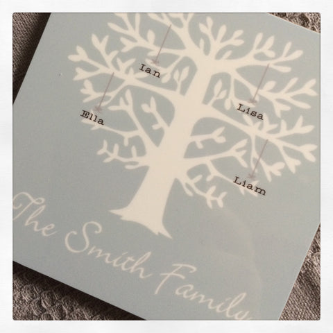 Personalised Family Tree Coaster