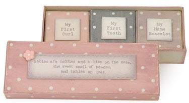 East of India Baby Triple Box Set Pink