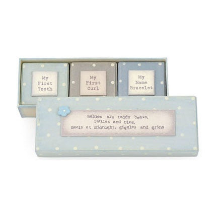 East of India Baby Triple Box Set Blue