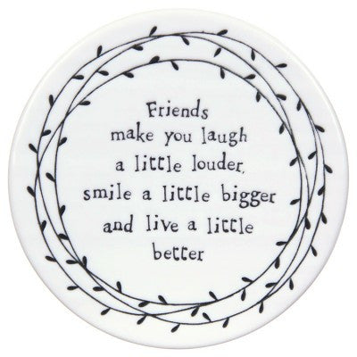 East of India Friends Make You Laugh Leaf Coaster