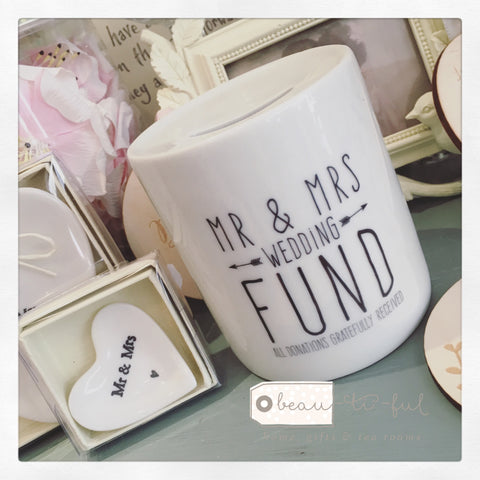 Mr & Mrs Wedding Fund Money Box