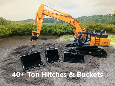40+ Ton 1:50 Scale Hitches & Buckets