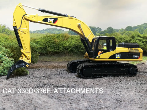Caterpillar 330D and 336E Attachments for Norscot and Diecast Masters excavators
