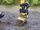 Cimodels tiltrotator engcon quick hitch for Britains JCB 3CX, 86C1 8060 and Hydradig excavator digger