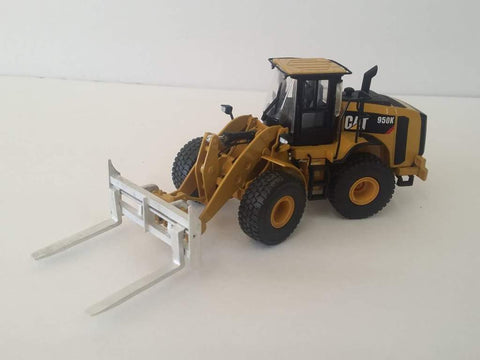Cimodels Pallet Forks for Tonkin Cat Caterpillar 950K, 966K and 972K Loader Shovel excavator digger