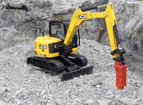 Cimodels rock hammer breaker to fit Britains JCB 86c1, 3CX 8060 Excavator digger