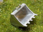 Cimodels 20 Ton 5 tooth bucket for 1:50 scale model construction excavator digger