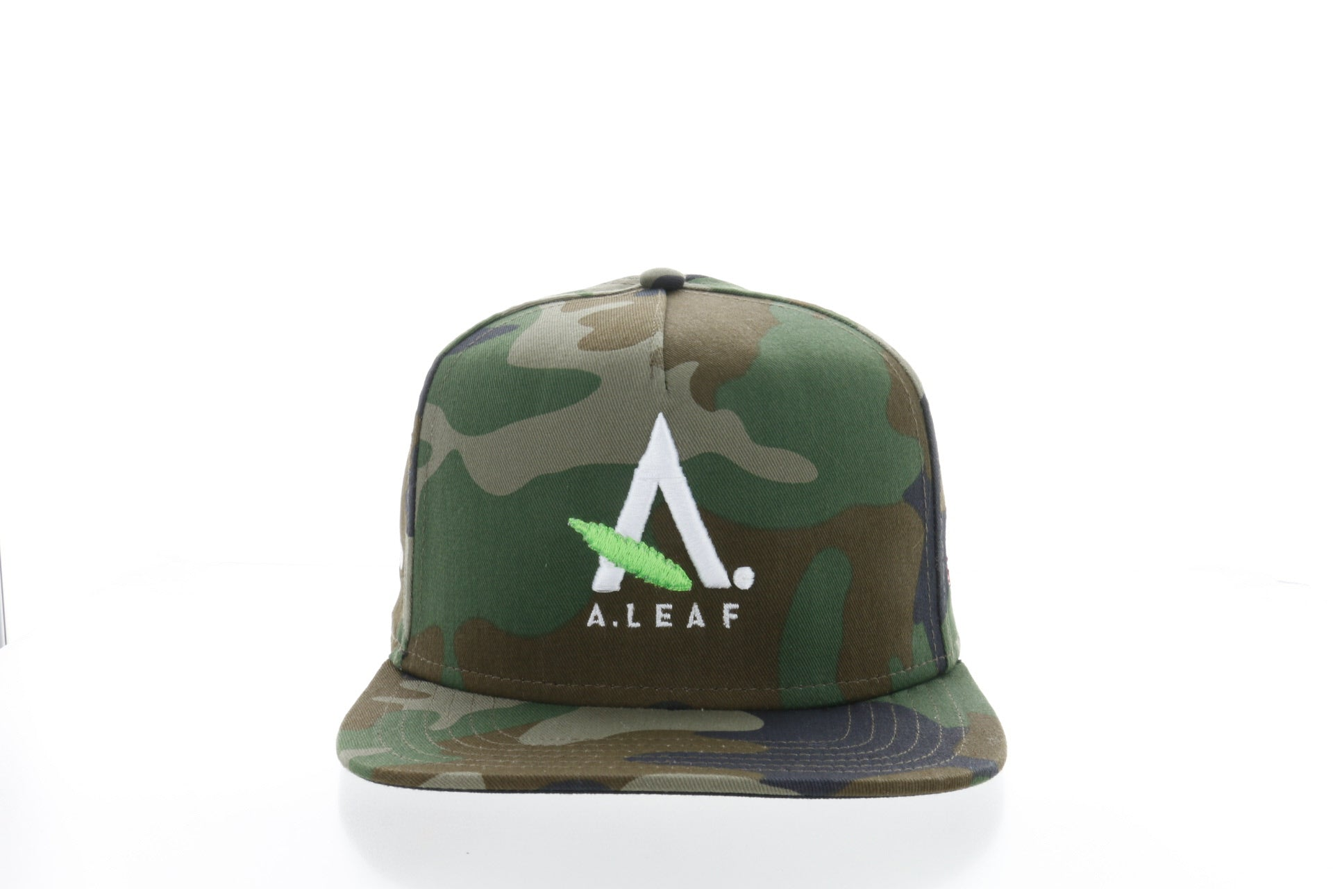 A.LEAF snap back hat - Camo