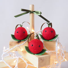 Christmas Cranberry Tree Decoration - Set of 3