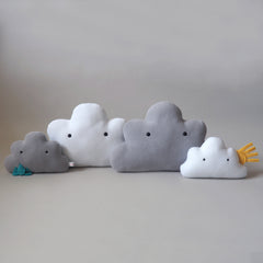 Cloud Cushion in Stormy (Grey)
