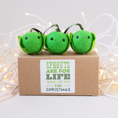 Christmas Sprout Tree Decoration - Set of 3