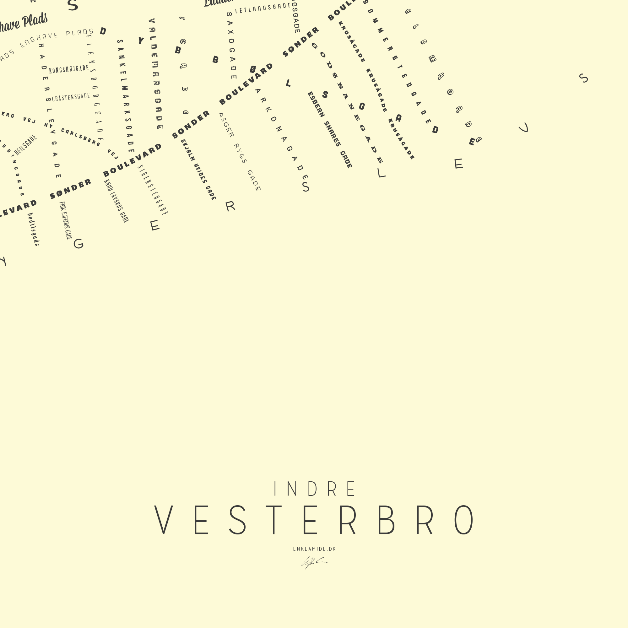 Indre Vesterbro III - Creme