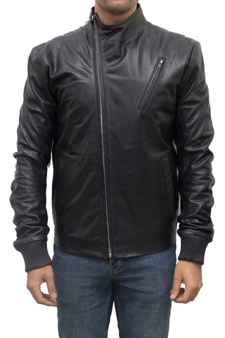 Asymmetric Zip Biker Jacket