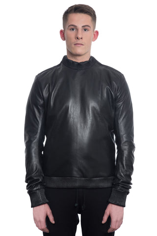 Leather Sweatshirt