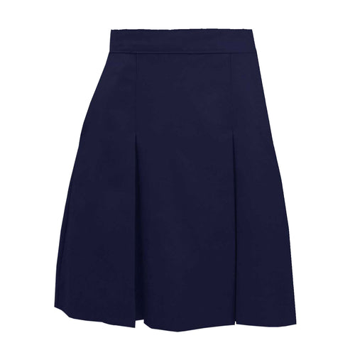 EDV TWILL KICK PLEAT SKIRTS-NAVY