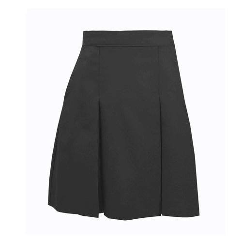 GREY KICK PLEAT SKIRTS
