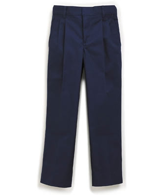 PLEATED FRONT NAVY TWILL PANT