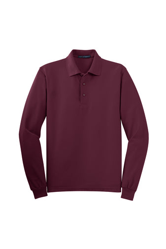 ASCA WINE LONG SLEEVE POLO