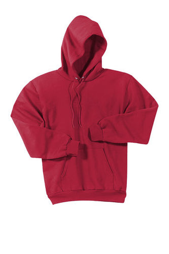 CMCCS PULLOVER HOODED SWEATSHIRT-RED WITH LOGO