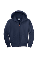Load image into Gallery viewer, HOLLISTER GRADES K-5  NAVY BLUE FULL ZIP HOODED SWEATSHIRT WITH LOGO