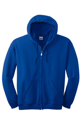 NHA MIDDLE SCHOOL FULL ZIP HOODED SWEATSHIRT WITH LOGO