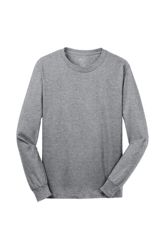 ELM LONG SLEEVE GREY T-SHIRT WITH LOGO