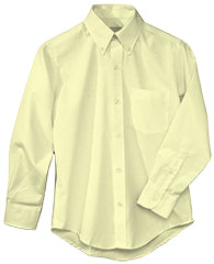 YELLOW  LONG SLEEVE OXFORD