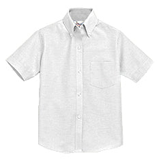 WHITE  SHORT SLEEVE OXFORD