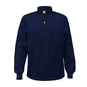 SPA 1/4 ZIP PULLOVER-NAVY WITH LOGO