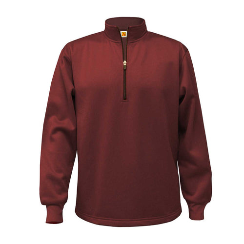 ND-BG 1/4 ZIP PULLOVER-WINE WITH LOGO