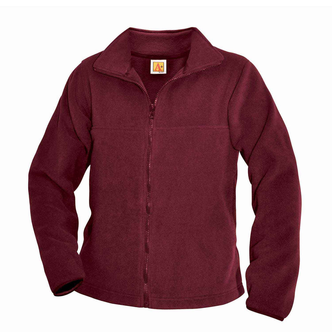 WINE FULL ZIP POLAR FLEECE