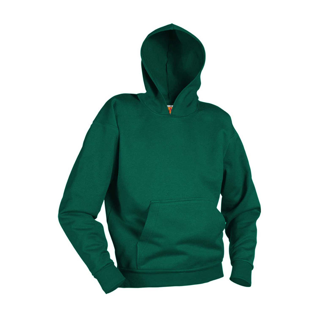 FPA PULLOVER HOODED SWEATSHIRT-DARK GREEN WITH LOGO