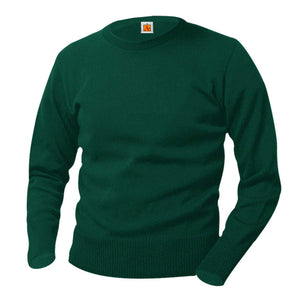 GREEN CREWNECK PULLOVER SWEATER