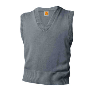 GREY V-NECK SWEATER VEST