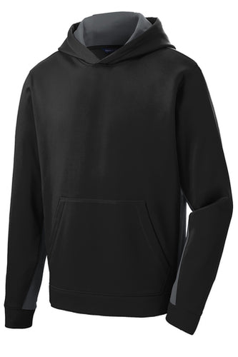 GILROY MIDDLE SCHOOL COLOR BLOCK PERFORMANCE HOODIE (YST235)